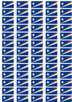 Marshall Islands Flag Stickers - 65 per sheet
